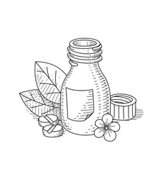 Jar with pill vector