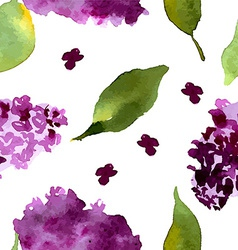Lilac flowers Watercolor floral Floral bouquet V vector image