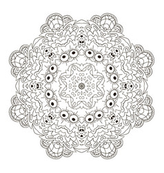 Mandala zentangl round coloring ornament relax vector