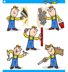 manual workers or workmen characters set vector image vector image