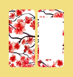 Mobile phone cover back and screen japanese vector
