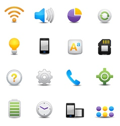 mobile setting icons vector image vector image