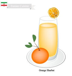 Orange sharbat or iranian drink from orange vector