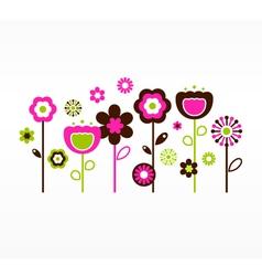 retro spring garden vector image vector image