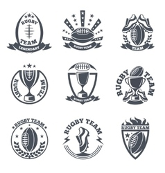 Rugby team badges and logos vector image vector image
