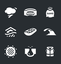 set of flood icons vector image