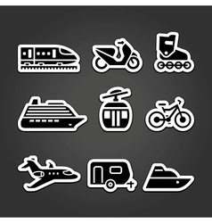 Set simple transportation icons vector image vector image
