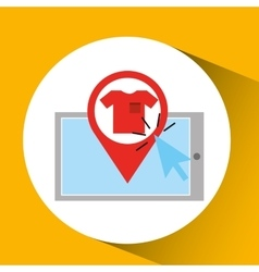 Smartphone shopping online clothes graphic vector