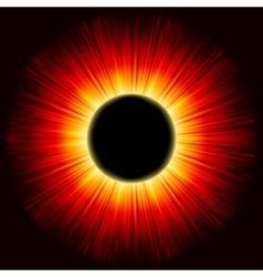 solar eclipse shine light eps 8 vector image