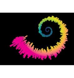 Spiral rainbow waveform vector
