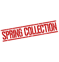 spring collection stamp vector image