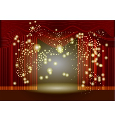 theatre stage curtain vector image