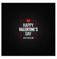 valentines day logo design background vector image