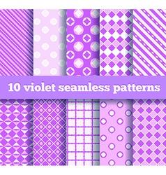10 seamless patterns vector