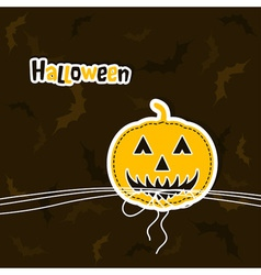 Template Halloween greeting card vector image