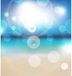 Bright blue background with sunlight rays vector