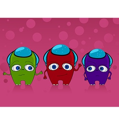 Three monsters vector image