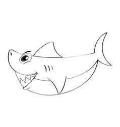 Doodle animal for shark vector