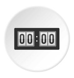 scoreboard icon circle vector image
