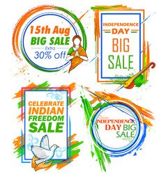Independence day of india sale banner with indian vector