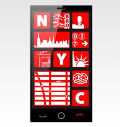 New york cell phone vector