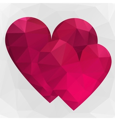 Two heart on white background vector image