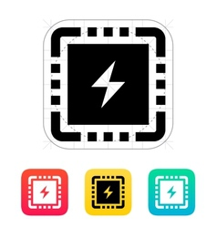 Cpu power icon vector