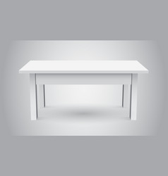 3d table for object presentation empty white top vector