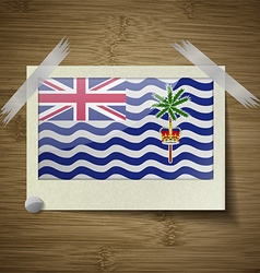Flags british indian ocean territory at frame on vector
