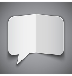 Folded paper speech bubble vector