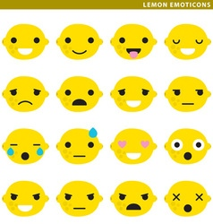 Lemon emoticons vector