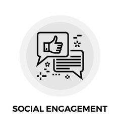Social engagement line icon vector
