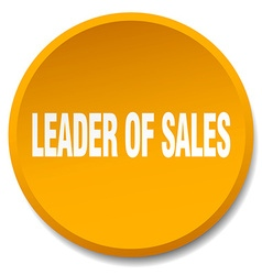 Leader of sales orange round flat isolated push vector