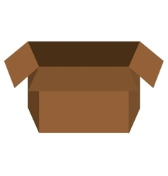 Box open isolated flat icon vector image