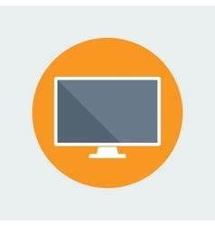 Computer monitor flat icon vector