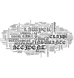 A is for accident attorney text word cloud concept vector