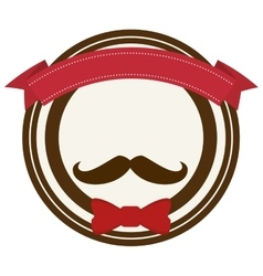 Accesory hipster style face vector