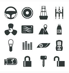 Auto accessories icons set vector