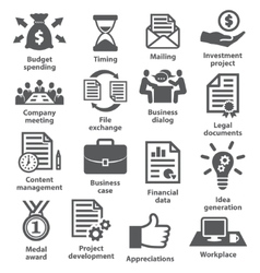 Business project planning icons vector image vector image