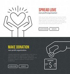 Charity banner vector
