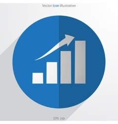 chart web flat icon vector image
