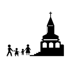 Church Stick Figure vector image vector image
