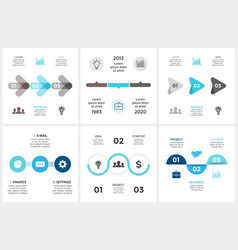 circle arrows timeline infographic cycle vector image vector image