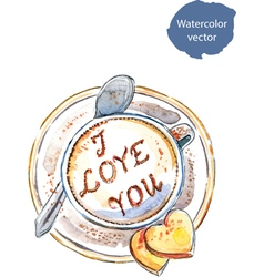 Coffee I love you vector image vector image