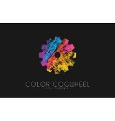 Cogwheel logo color cogwheel creative logo vector