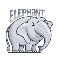 Cute gray elephant with title vector