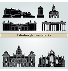 Edinburgh landmarks and monuments vector