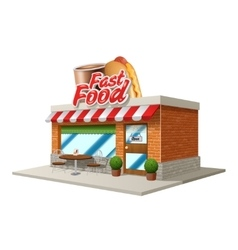 Fast food cafe vector