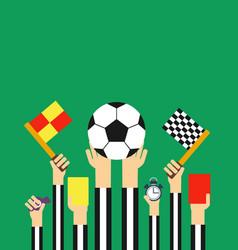 Flat football referees card vector