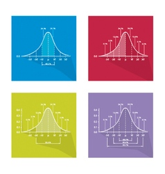 Gaussian bell or normal distribution curve vector